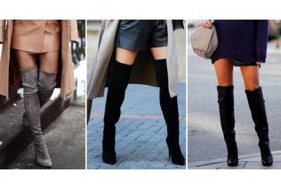 Overknee boots fashionable & hot this winter!