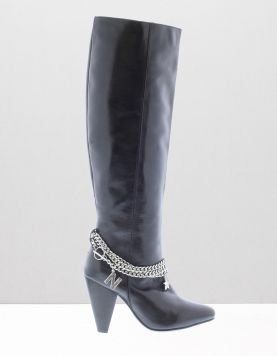 Nikkie Chain Kneeboot Laarzen 9000 Black 111304-08 1