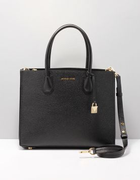 Michael Kors Mercer L.tote Tassen 30f8gm9t3t Black-gold 115504-08 1