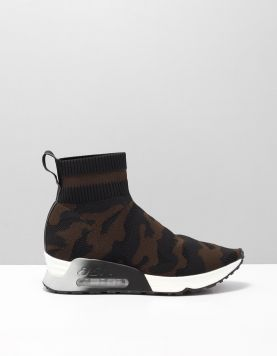 Ash Lulu Camo Sneakers Black-military 115137-09 1