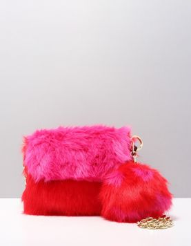 Stuff Maker Happy Fur Clutch Tassen 11182017 Red-pink 115058-69 1