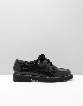 Paul Green 2629 Veterschoenen 043 Croc Black 115000-08 1