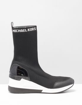 Michael Kors Grover Knit Boot Sneakers 43f8grfe5d Black 114530-08 1
