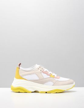 Miss Behave Telma 1 Sneakers F White-yellow-pink 114208-59 1