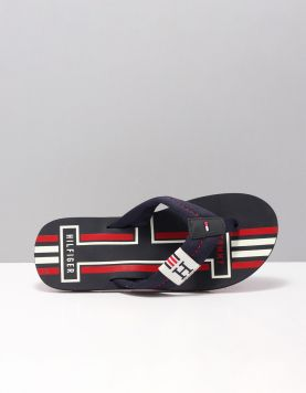 Hilfiger Badge Flip Flop Slippers Fm0fm02076403 Midnight 115676-71 1
