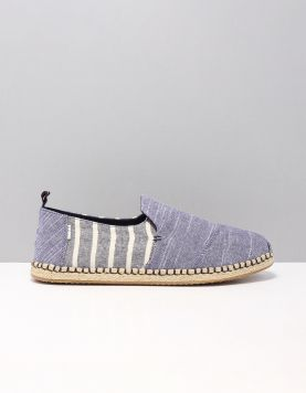 Toms Deconst Alpargata Instappers 10013271 Navy Stripes Chambray 115812-79 1