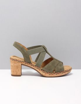 Gabor 22-773 Slippers 34 Olive 115861-84 1
