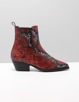 Deabused 7276 Enkellaarsjes Python Grey-red 116103-69 1