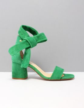 Fabienne Chapot Shs-16-pmp-ss19 Slippers S436 1967 Green Metallic Suede 116060-82 1