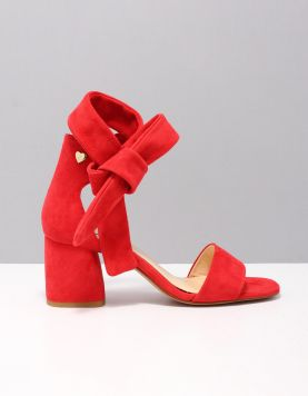 Fabienne Chapot Shs-16-pmp-ss19 Slippers S726 Romance Redsuede 116060-64 1