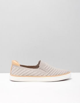 Ugg Sammy Chevron Metal Instappers 1099827 Oyster 115690-23 1