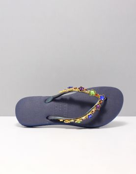 Colourfull Star Slippers Blue 116825-71 1