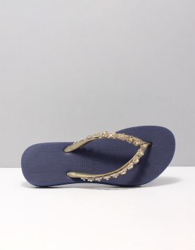 Flower Power Slippers Blue 116830-71 1