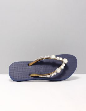 Pearl Marilyn Slippers Blue 116828-71 1