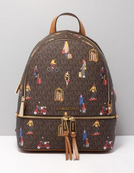 Michael Kors Rhea Zip Backpack Tassen 30h9gezb2o Brown Multi 118298-19 1