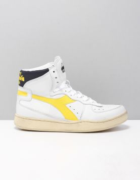 Diadora Heritage Mi Basked Used Sneakers C8713 Iris Golden 118102-50 1