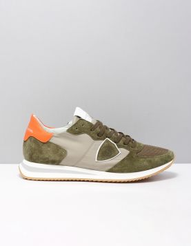 Philippe Model Tzlu-tropez X Sneakers W032 Militaire Orange 118333-83 1