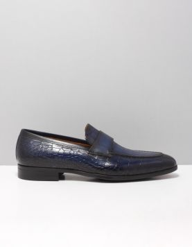 Magnanni 22816 Instappers Boltan Grab Alligator Navy 118789-71 1