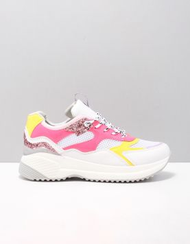 Replay Dubai Schoenen Met Veters Js240011s-0380 White Fuxia 118560-59 1
