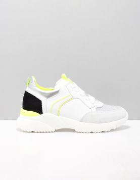Hip H1274 Schoenen Met Veters Combi X: White Black Fluo 118642-50 1