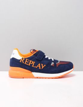Replay Cardiff Schoenen Met Veters Js290006l-2074 Navy Fluo 118562-79 1