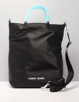 Tommy Jeans Tjw Logo Tape Tote Tassen Aw0aw082560f4 Black 118385-08 1
