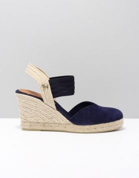 Hilfiger Closed Toe Wedge Instappers Fw0fw04775-dw5 Desert Sky 118221-74 1