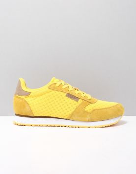 Woden Ydun Suede Mesh Sneakers 607 Super Lemon 118143-41 1