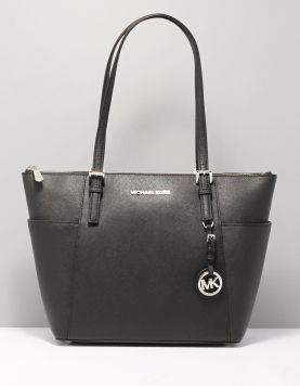 Michael Kors Jet Set Item Tote Tassen 30f2sttt8l-001 Black Shiny Rho 116871-08 1