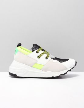 Steve Madden Cliff Sneakers White Yellow 118806-50 1