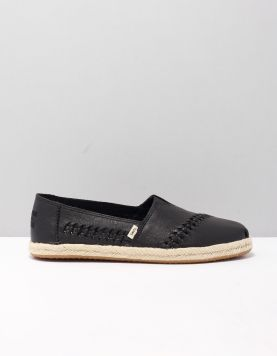 Toms Alpargata Leather Instappers 10015049 Black 118550-08 1