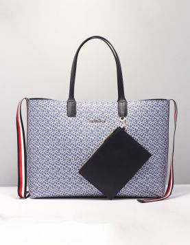 Hilfiger Iconic Tommy Tote Tassen Aw0aw08318c7h Blue Ink 118390-79 1