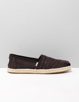 Toms Alpargata Rope Instappers 10015472 Black 118542-08 1