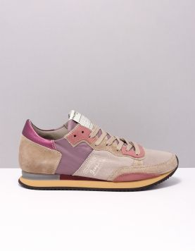 Philippe Model Tvld Tropez Vintage Sneakers Sy04 70 Years Taupe Rosa 116963-39 1