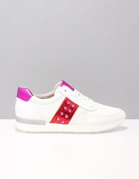 Gabor 24-421 Sneakers 24 Weiss-rosso 115867-50 1