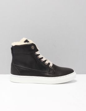 Hip H2538 Schoenen Met Klittenband Black Leather 114151-08 1