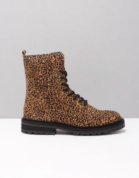 Hip H1686 Schoenen Met Veters Natural Leopard Baby 117507-19 1