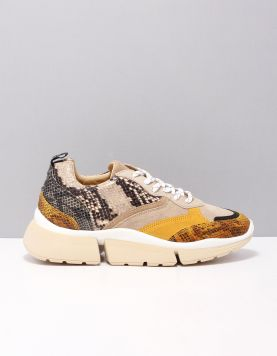 Deabused 7530 Sneakers Yellow Snake Combi 117387-49 1