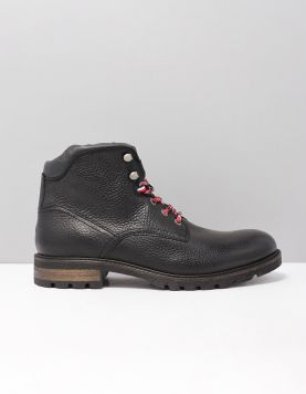 Hilfiger Textured Boot  Fm0fm02430-990 Black 117178-08 1