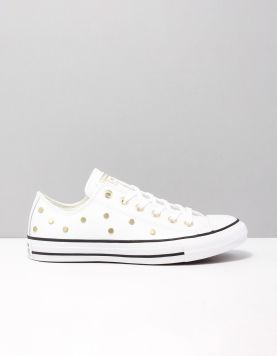Converse Chuck All Star Ox Sneakers 565850c White-l.gold 117055-50 1