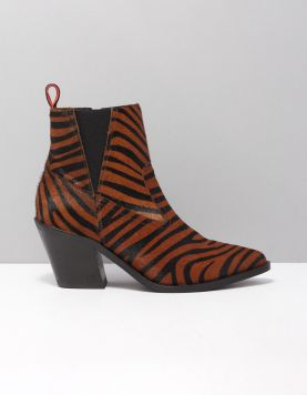 Scotch & Soda Abbey Zebra Enkellaarsjes 19751115 S454 Zebra Brown 117164-19 1