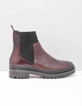 Hilfiger Ribbon Chelsea Boots Fw0fw04323-299 Chocolate Truff 117183-61 1