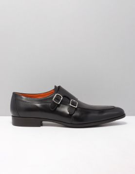 Santoni 16623-william Nette Schoenen Ryc N01 Nero 117323-08 1
