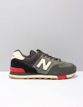New Balance Ml574 Sneakers 06 Jhr Green Red 117763-84 1