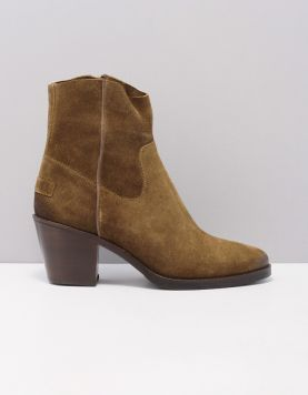 Shabbies 183020166 Enkellaarsjes 3404 Warm Brown 119859-14 1