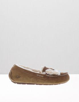 Ugg Ansley Fur Bow Pantoffels 1019758 Chestnut 111127-14 1