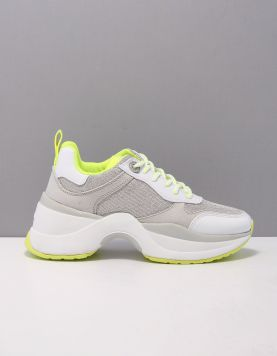 Guess Juless Sneakers Fl7-jus-fab12 Silver Yellow 119201-59 1