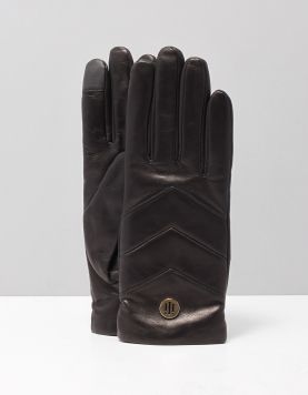 Hilfiger Th Leather Gloves Handschoenen Aw0aw07193bds Black 117899-08 1