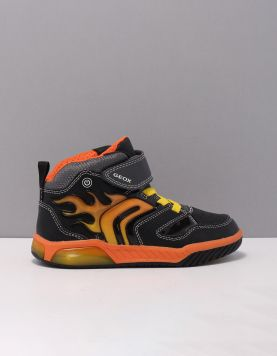 Geox J949cc Schoenen Met Veters C0038 Black-orange 119774-08 1